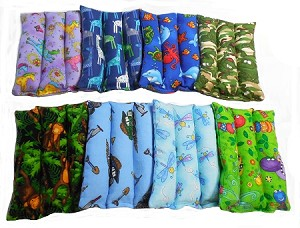 "Herbal Hot/Cold ""Flannel""  Boo Boo Buddie 6"" wide x 7"" long"